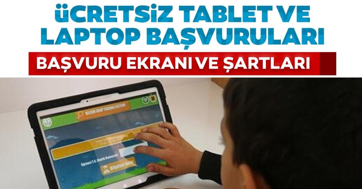 Ücretsiz tablet ve dizüstü bilgisayar laptop başvuruları BAŞLADI